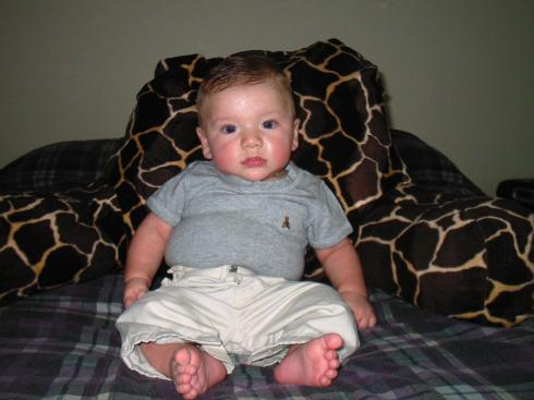 Big A before he could sit up!